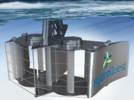 Hydrolienne fluviale Hydroquest © Hydroquest