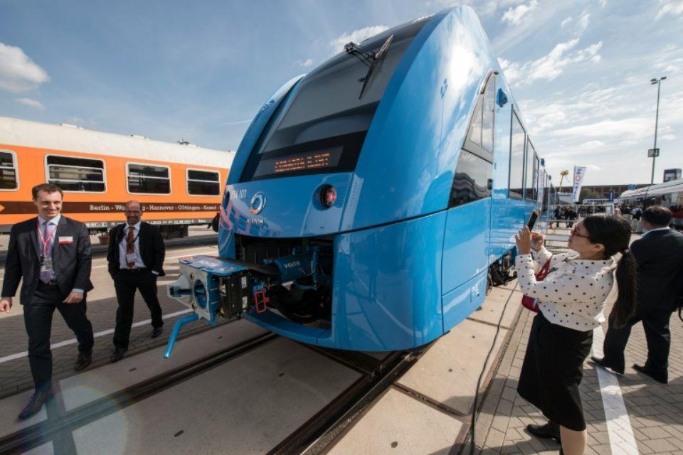 Le train HO Coradia iLint. Photo John MacDougall. AFP