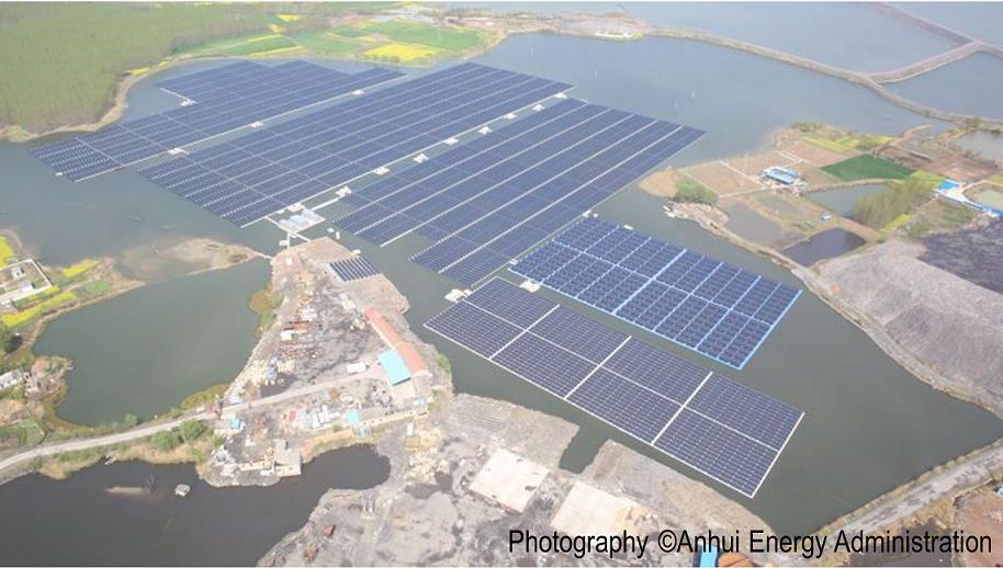 Centrale solaire photovoltaïque flottante Chine