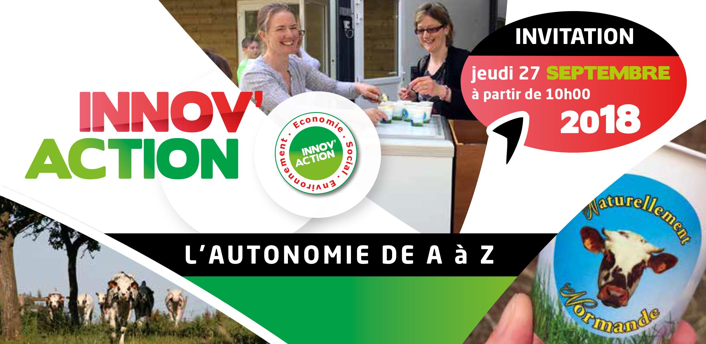 Journée INNOV'ACTION, le rendez-vous des agriculteurs qui innovent, le 27 septembre 2018
