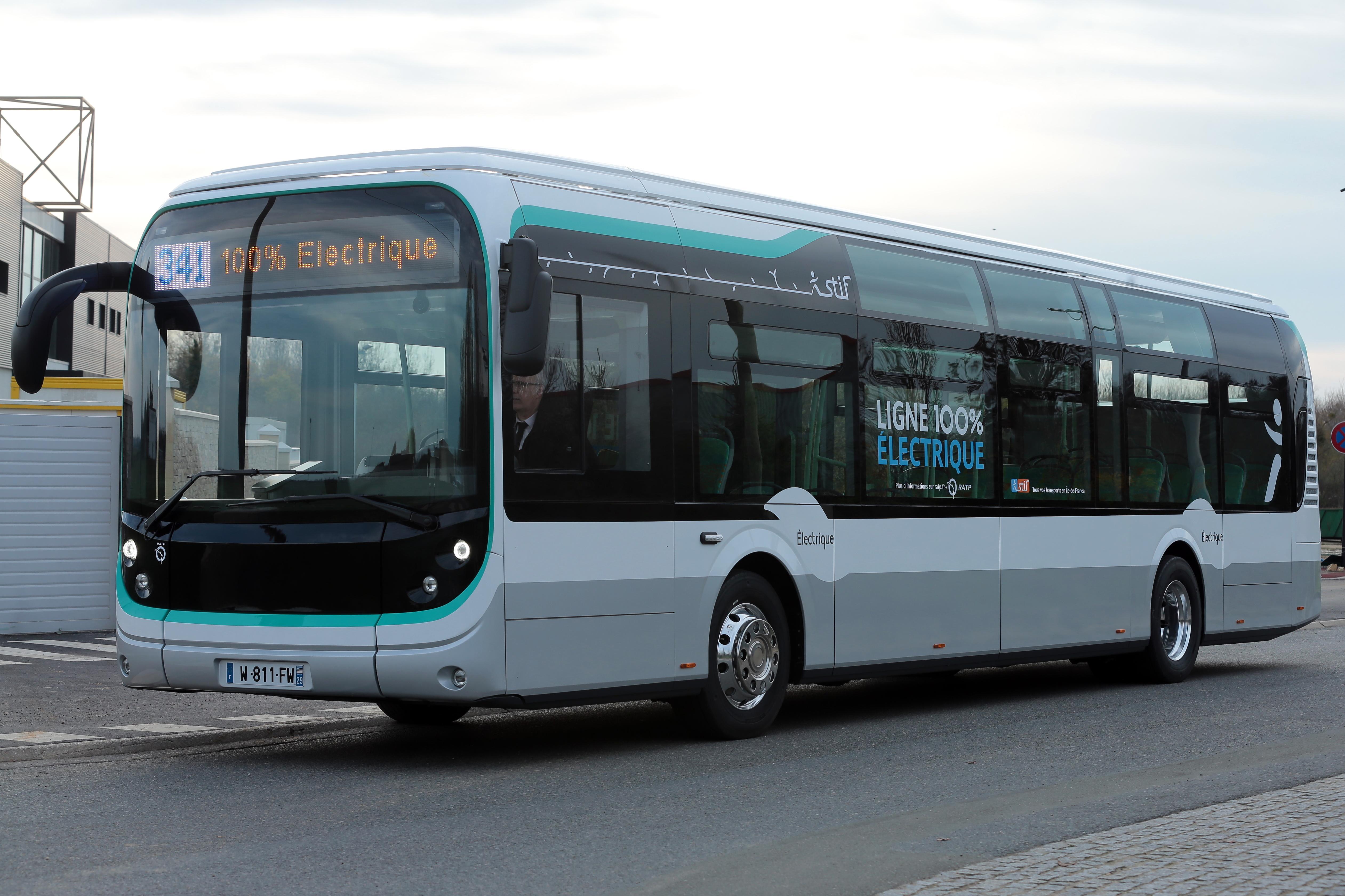 Le bus Bluebus de la RATP. crédit.P.ANZIANI