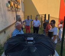 Visite de la pompe à chaleur à absorption gaz installée au groupe scolaire Claude Monet à Honfleur