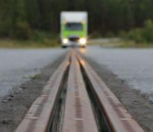 """Route électrifiée """"eRoadArlanda"""" en Suède"""