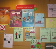 Affiches de sensibilisation pour les élèves et enseignants du collège