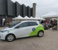 Essai véhicule électrique et utilisation de la borne mobisdec
